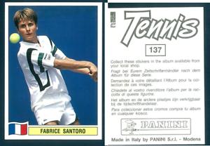 Fabrice-Santoro-FRA-Tennis-1992-Edizioni-Panini-MINT-n-137
