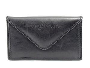 Carrera-Y-Carrera-Leather-Card-Wallet-Holder-Business-Card-Holder-Black
