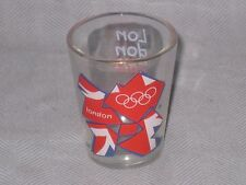 2012 Olympics London UK Shot Glass ( Gymnastics Swimming Run Swim Bike Biking )