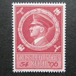Germany Nazi 1944 Stamp MNH Adolf Hitler 55th birthday Swastika Eagle WWII 3rd R