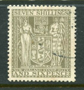 NEW-ZEALAND-1931-56-Arms-7-6-grey-used