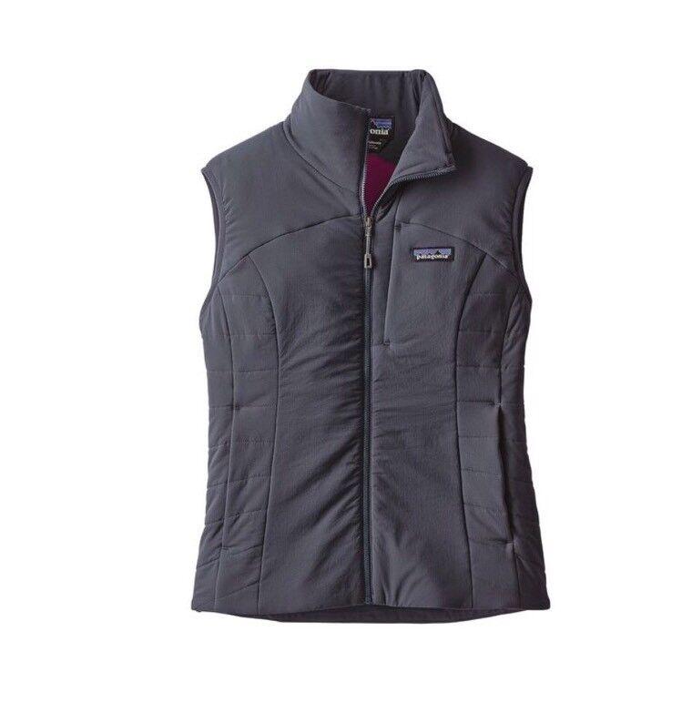 Authentic Patagonia Women's Nano-Air Vest, Smolder bluee Sz X-Small