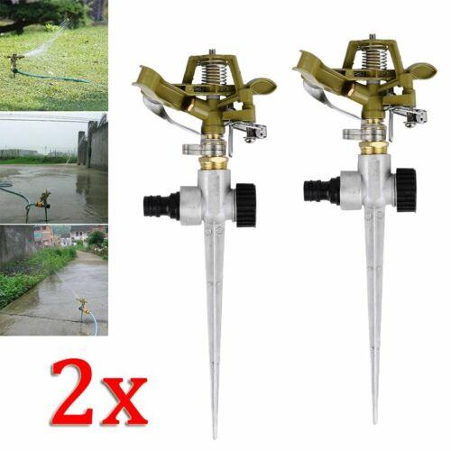360° Garten Rasensprenger Impulsregner Sprinkler Regner Kreisregner Bewässerung
