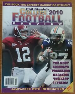 Phil Steele's 2010 College Football Preview, McElroy/Alabama Fannin/Auburn Cover