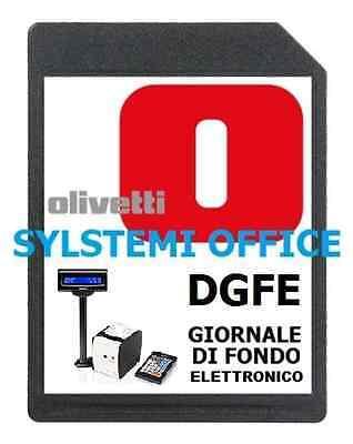 DGFE GIORNALE DI FONDO ELETTRONICO CASSA OLIVETTI NETTUNA