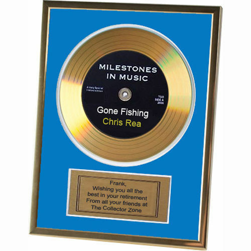 Personalised Message Gold Record Disc Retirement Office Work Leaving Gift Idea