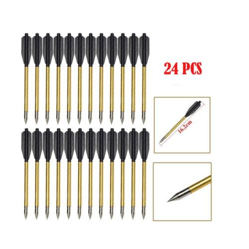 """Aluminum Metal Arrow Bolts for 50lb /& 80lb Pistol Crossbow bow 12//24//36 PCS 6.5"""""""