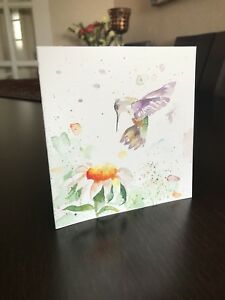 Handmadehand painted greeting card bird and flower original artwork image is loading handmade hand painted greeting card bird and flower m4hsunfo