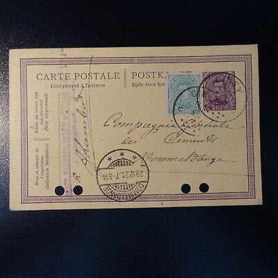 Flight Tracker Belgien Ganze Post Brief Cover Ciney 28.12.1921 Europa > Luxemburg