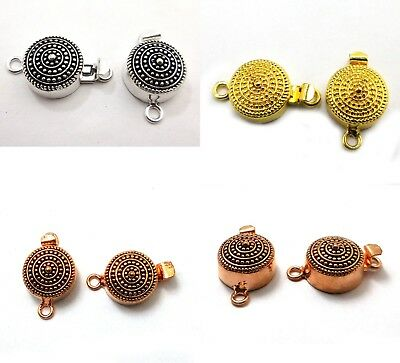 2 PCS STERLING SILVER PLATED GOLD PLATED 25X16X9MM 1 STRAND BALI BOX CLASP 218