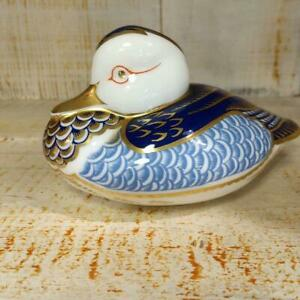 Royal-Crown-Derby-Paper-Weight-Duck