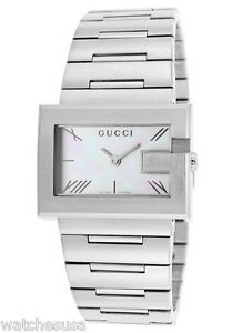 e82304b2a7a Gucci Womens Mother of Pearl Dial Stainless Steel Bracelet Quartz ...