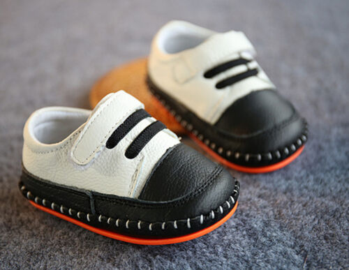 Baby Shower Boys White Christening Wedding Party Genuine leather first Shoes