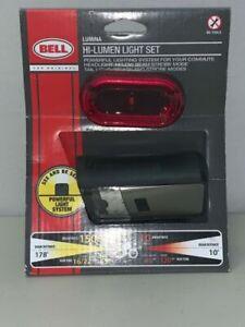 Bell Sports 7070567 Lumina Headlight and Tail Light Set Black