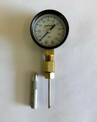Geothermal Loop Pressure Port Tool 100 Psi Gauge W// Protector Geo Needle Tool