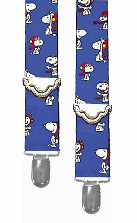*SNOOPY SUSPENDERS...READY FOR RED BARON - 2 ADULT SIZES - NEW w/o TAGS