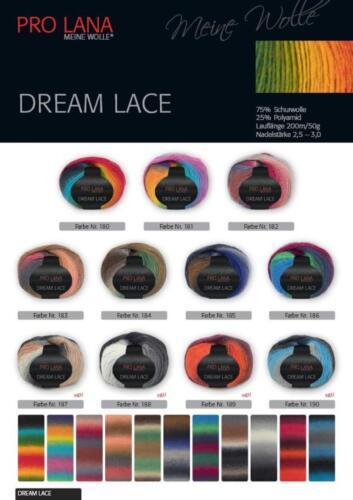 DREAM LACE 50 gr Knäul von Pro Lana  mit Farbverlauf 8,90€//100 gr