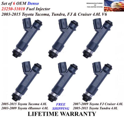 OEM Denso Set of 6 Genuine Fuel Injector For 2007-2009 Toyota FJ Cruiser 4.0L