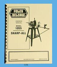 Foley Belsaw Model 1055 Sharp-All Operator & Parts Manual *1156