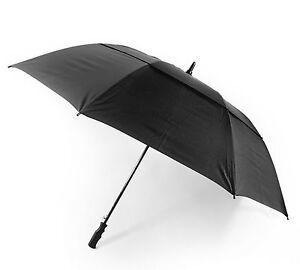 OCTAVE-Unisex-Wind-Resistant-Double-Canopy-Black-Golf-Walking-Umbrella