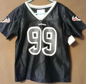 best sneakers 6f9b2 85fd1 Details about JJ Watt Jersey NEW Girls Size 4T Youth Kids Houston Texans NFL