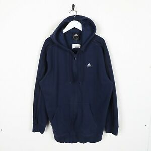 Vintage-ADIDAS-Small-Logo-Zip-Up-Hoodie-Sweatshirt-Blue-Medium-M