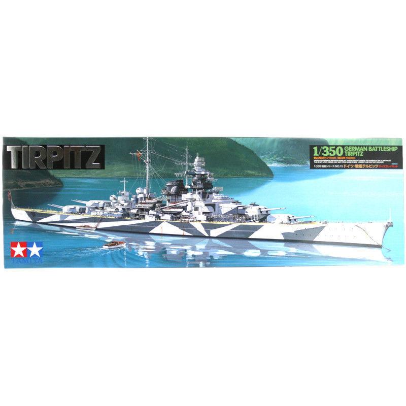 Tirpitz with Stand - 1 350 Ship Model Kit - Tamiya 78015