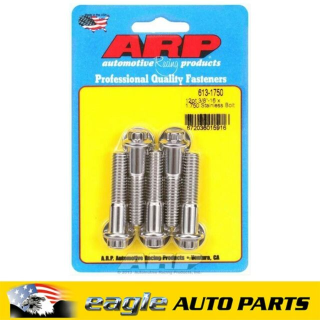ARP Stainless Steel Bolts 3/8 in.-16 RH Thread, 1.750 in   # 613-1750