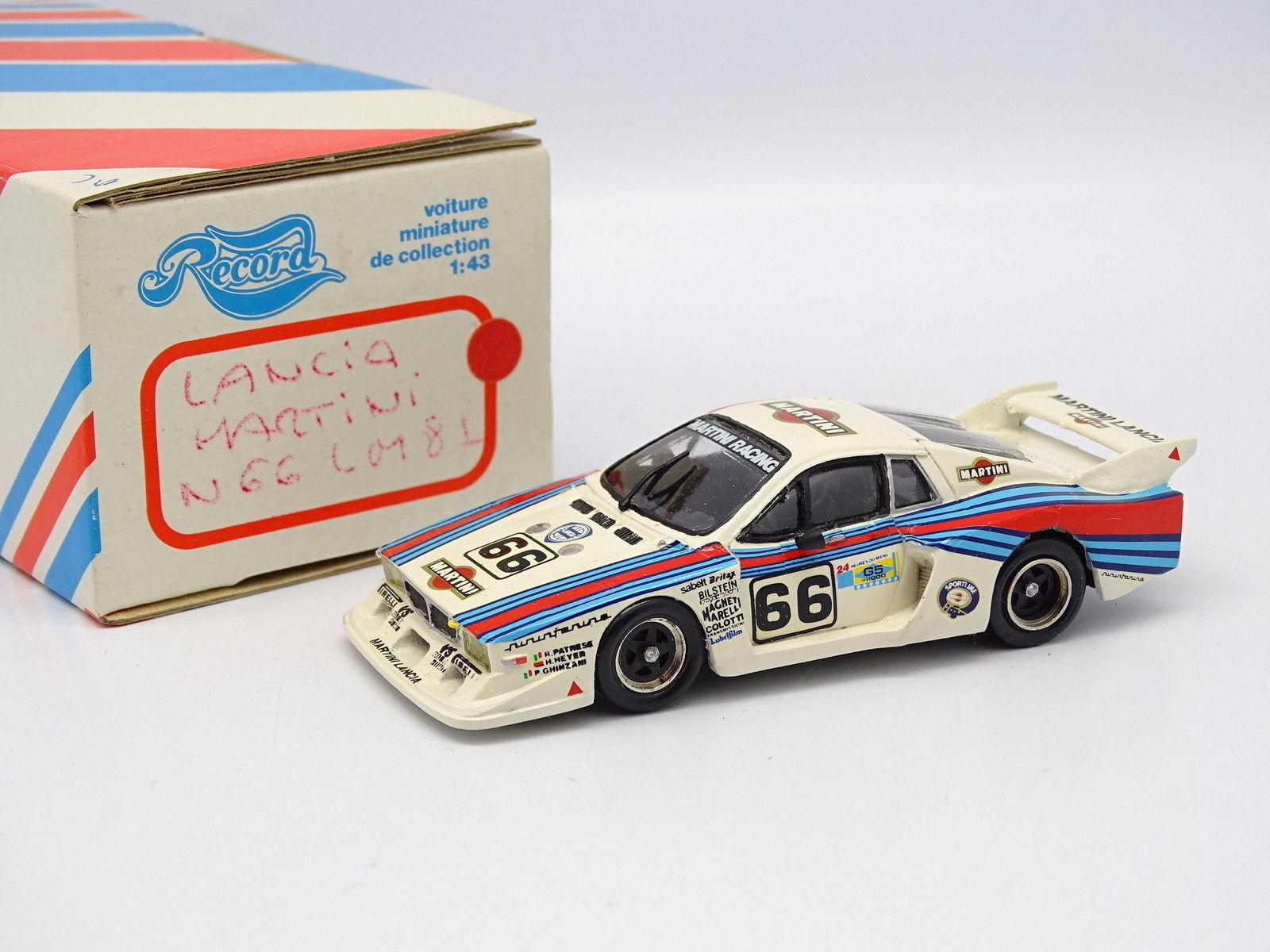 Record Kit Montado Resina 1 43 - Lancia Beta Martini Le Mans 1981 Nº66