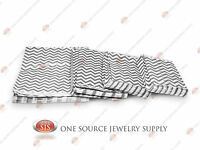 Lots Of 100 Silver Chevron Merchandise Bags Gift Bags Store Bags Paper Bags