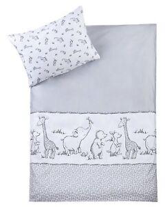 Zoellner-Bettwaesche-Safari-80-80-cm-35-40-cm-fuer-Baby-Kinderbett