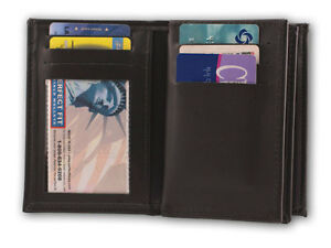 Bifold-Wallet-with-Hidden-Badge-Holder-DOUBLE-ID-and-picture-sleeve-119-A