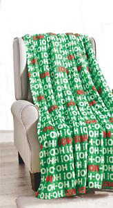 Ultra-Cozy-amp-Soft-Christmas-Holiday-Ho-Ho-Ho-Plush-Warm-Throw-Blanket-50-034-x-60-034
