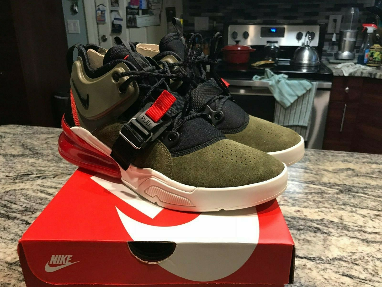 Nike Air Force 270 Mens Medium Olive Green shoes AH6772 200