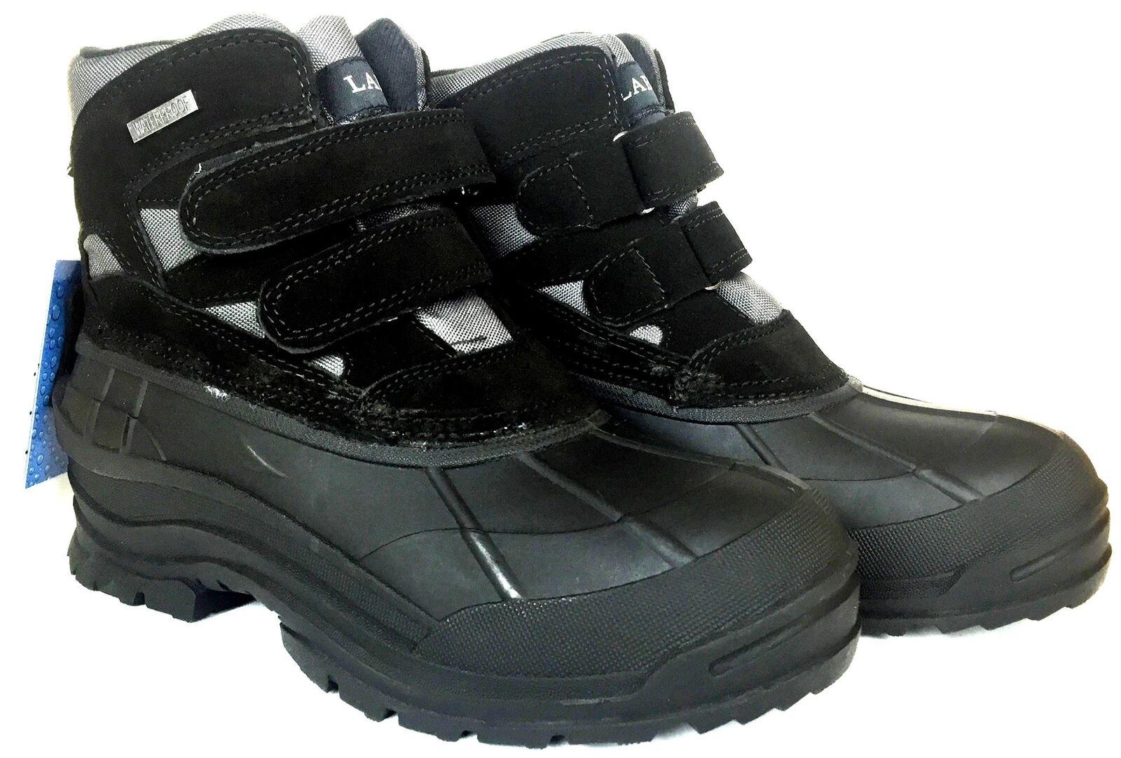 LABO Men's Leather Winter Snow Boots
