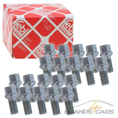 20x Febi bilstein tornillos m14x1,5x27 mm galvanizado sw17 radschraube 31880987