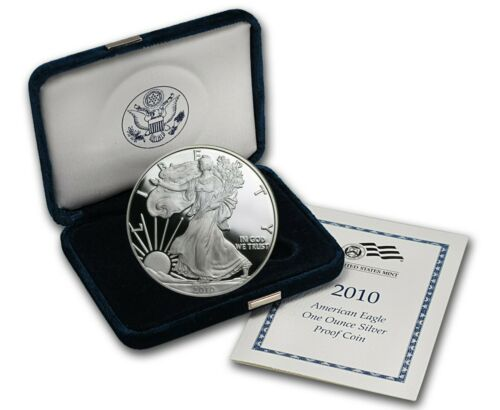2010 W AMERICAN SILVER EAGLE PROOF DOLLAR US Mint ASE Coin with Box and COA