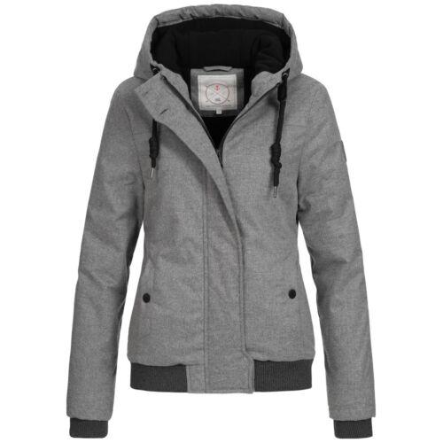 Azuonda Donna Giacca transizione giacca parka leggermente foderato Cappuccio XS-XXL az99