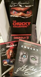 The-Chucky-Collection-Childs-Play-DVD-Signed-3x-Jennifer-Tilly-2003-3-Disc-Set