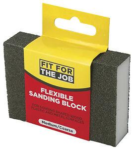 FFJ-Medium-Coarse-Flexible-Sanding-Block-Use-On-Metal-Wood-Plastic-FFJFSBC