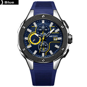 MEGIR-2053G-Men-Sport-Watch-Chronograph-Silicone-Strap-Quartz-Watch-Blue