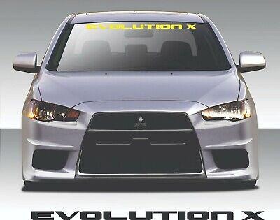 "MITSUBISHI EVOLUTION X EVO 10 WRC Windshield Banner Vinyl Decal Sticker 42x1.5/"""