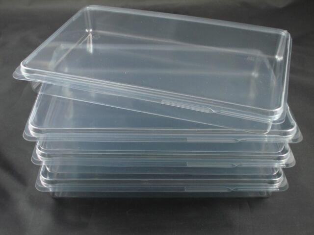 Crafts Rubber Stamps 8 NEW Clear Plastic Storage Cases XL 8x5 Hardware