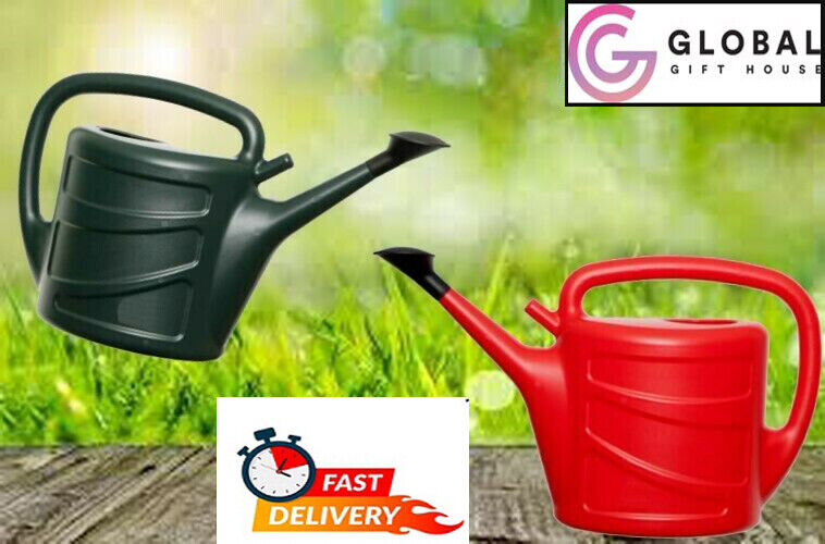 Watering Can With Rose Sprinkler Plastic 6L,7L,10L RED OR GREEN