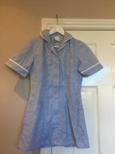 ALEXANDRA HF979  Women's Tunic Nurses Vet Healthcare Medical Blue Stripe Size 6