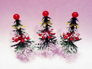 24 Decorated Christmas Tree Cupcake Picks Cake Topper ...