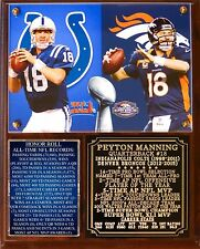 Peyton Manning Retired Career 1998-2015 Photo Plaque Broncos Colts
