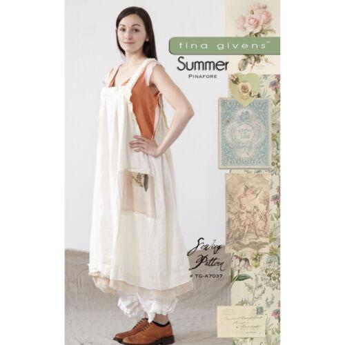 """TINA GIVENS /""""SUMMER PINAFORE/"""" Sewing Pattern"""