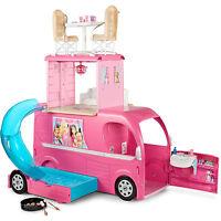 Barbie Camper Van, Rv - Pop Up, Toy, Play, Pool And Slide, Playset Brand
