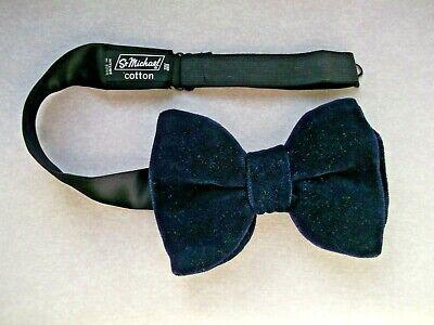 Bello Cravatta A Farfalla Vintage Velluto Da Uomo Grande Bowtie 1970s Dandy Cruiser Navy Blu Notte- Prezzo Moderato